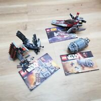LEGO - Star Wars - x3 set V-Wing Starfighter & Droid Escape Pod+ - 75039 75137