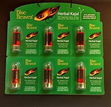 "12x 1.25g Blue Heaven Herbal Kajal"" Kohl Eye Liner Vitamin E Color Natural Black"