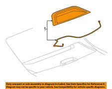 Buick GM OEM 10-13 LaCrosse-3rd Third Brake Light-Lamp 9072766
