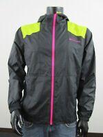 NWT Mens M Columbia Flashback Water Resistant Windbreaker Hooded Jacket - Black