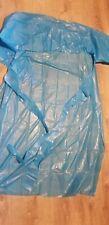 Lot of 25 Aprons.  MPG55B Eva Blue Processing Gowns. Food Handling, Art, Etc