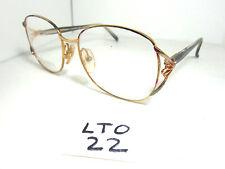 Nos Vtg 1980s SILVER DOLLAR Sun Eyeglass Frame Jade Teal, Red Gold (LTO-22)
