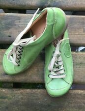 Portofino Women Shoes Laced Green Size 37, US 6 1/2 UK4 Leather Upper Spain $265
