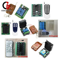 1/2/4//6/8/12/15 Channel Wireless RF Remote Control DC 12V Transmitter+ Receiver