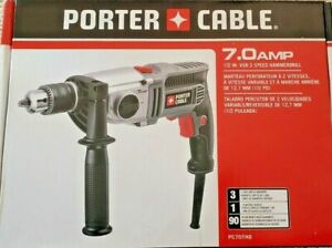 """Porter Cable PC70THD 1/2"""" 7 Amp VSR 2-Speed Heavy Duty Hammer Drill ~ NEW SEALED"""