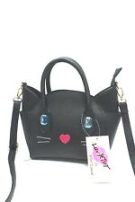 BETSEY JOHNSON Handbag*Black Cat Mini Satchel *Messenger Bag New