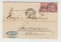 Hufeisenstempel - COELN [SPALINK 4-6N1] 6 7 70  5-6 auf NDP Brief nach Rotterdam