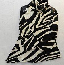 WOMENS sweater zebra striped turtle neck = MERCHANT = SIZE Small = WH88