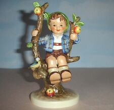 "Hummel Goebel APPLE TREE BOY 142/I TMK-5 Figurine w/Bird 6""H Tarrytown Archives"