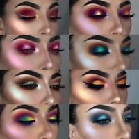 24 Colors Glitter Shimmer Metallic Eyeshadow Palette Pigment Eye Shadow Charm HQ