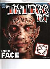 Cyborg Costume Face Kit Temporary Tattoo FX Tinsley Transfers Costume