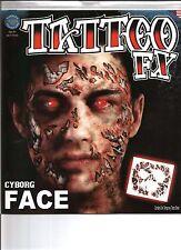 Cyborg Costume Face Kit Temporary Tattoo FX Tinsley Transfers Costume