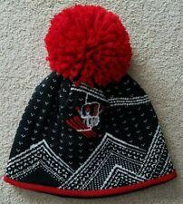 Krimson Klover  Women's Ski Hat Black and Red Design
