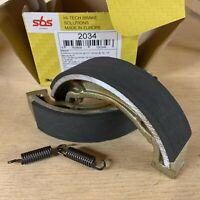 Yamaha DT 125 Tenere 1989 - 1990 SBS Rear Brake Shoes Genuine OE Quality 2034