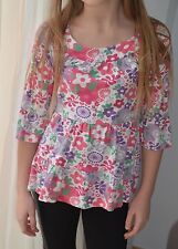 LILY&LEILA  5-6 yrs girl spring  summer multi-coloured  floral  top  5-6 yrs