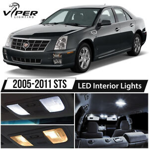 2005-2011 Cadillac STS White LED Interior Lights Package Kit