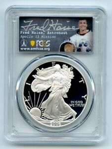 2006 W $1 Proof American Silver Eagle PCGS PR70DCAM Fred Haise
