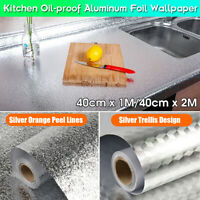 Kitchen Oil-proof Grease Sticker Dust-proof Aluminum Foil Cabinet Wallpaper New