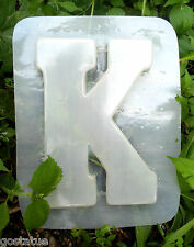 Letter K  plastic mold SEE 26 letters available