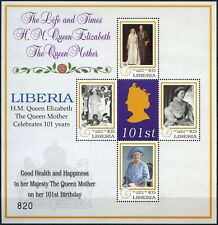 Liberia 2001 Queen Mothers 101st Birthday MNH Sheetlet #D75018