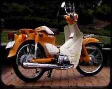 Honda C50 Cub 66 03 A4 Photo Print Motorbike Vintage Aged