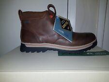 CLARKS Ripway Hill GTX Mens Chukka Boots Tan Leather Size 9.5