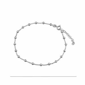 925 Sterling Silver Beautiful Bead Chain with Beads Anklet Sale