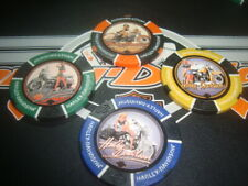 #4 pc Set Harley Davidson Poker Chips American Beauty Golf Ball Marker Hd Logo