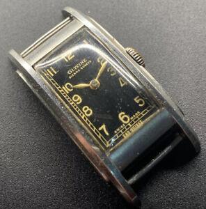 1940s SS Glycine Curvex Step Case Ladies Wristwatch