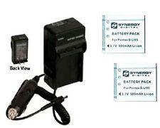 Two 2X D-LI95 DLI95 Batteries + Charger for Pentax Optio E85 E75 M85 Camera