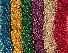 72 6 Colors Mardi Gras Gra Beads Necklaces Party Favors 6 Dozen Lot