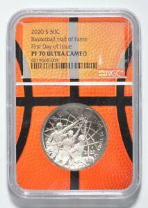 2020-S Basketball Hall of Fame Half Dollar Commemorative NGC PF70 FDOI NGC *0392