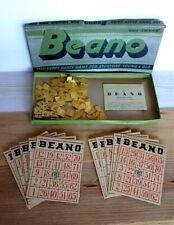 Vintage Milton Bradley BEANO Game - EARLY Bingo Game