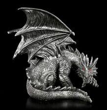 Drachen Figur mit roten Augen - Obsidian - Nemesis Now Lindwurm Drachenjunges