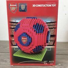 Official Arsenal FC Team 687 Pcs Football Gift Construction Ball 3D Brick Blocks