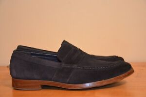 Cole Haan Jefferson Navy Blue Suede Grand Slip On Penny Loafer Men's size 10 M