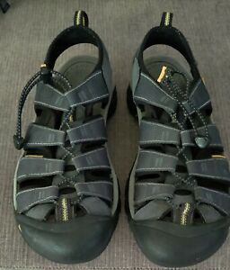 Keen Newport H2 Waterproof Hiking Trail Sport Sandals Gray/ Blue Men's Size 10.5