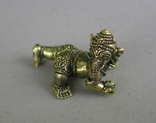 "Small Brass Baby Ganesh Statue for Hindu Practice 1"" High"