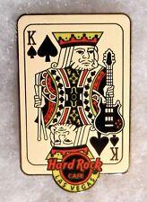HARD ROCK CAFE LAS VEGAS KING OF SPADES HOLDING GUITAR & DRUM STICKS PIN # 99101