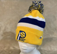 Indiana Pacers '47 Adult Winter Beanie Pom Stocking Cap Hat NBA Basketball