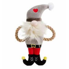 House of Paws Christmas Santa Rope Arm Dog Toy   Plush Tug Festive Squeaky