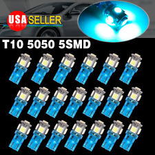 20x Ice Blue T10 5050 5-SMD Led Interior License Lights Dome Map Instrument Bulb