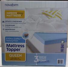*NIOB* Novaform Evencor Gel Plus Memory Foam Mattress Topper Queen w/ Cover
