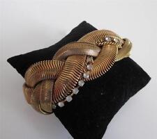 Rachel Leigh Braided Snake Chain Bracelet Antiqued 14K Gold Plated Lagenlook