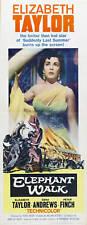 Elephant walk Elizabeth Taylor vintage movie poster