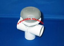 """Waterway spa hot tub 1""""slip ON/OFF TURN VALVE DUAL-port # 600-4377 gray cover"""