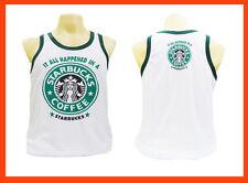 STARBUCKS Men's Sport Running Boxing Vest Singlet Tank Tops T-Shirts Size M