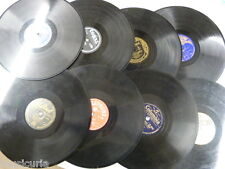 random selection box of 8 x 78 rpm GRAMOPHONE RECORDS ungraded lot , gift idea ?