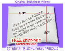 Original Buckwheat Pillow Queen Size *Flat rate $5.00 Shipping **ANY QTY