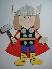 Thor Paper Doll/Cricut Die Cut/Scrapbook Embellishment/Paper Piecing